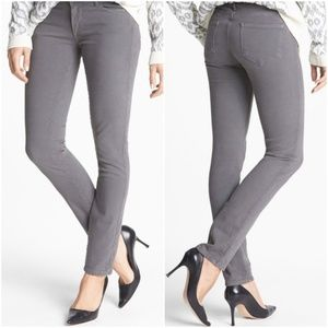 NWT PAIGE Gray Mobile Skyline Stretch Skinny Jeans